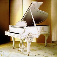 "beautifulll white baby grand piano from steinway and sons. ""It will be mine.... Oh yes, it will be mine"""