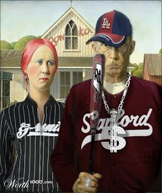 American Gothic | AMERICAN GOTHIC BASEBALLMore Pins Like This At FOSTERGINGER @ Pinterest