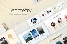 Geometry Keynote Template by ReworkMedia on @creativemarket