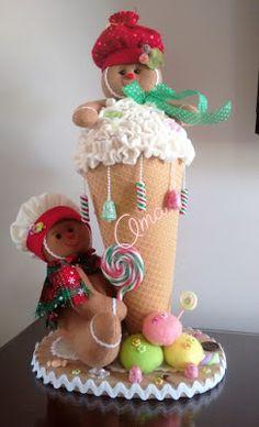 MANUALIDADES OMA TEL: 235 82 51 CELULAR: 301 448 52 99 Medellín Gingerbread Ornaments, Diy Christmas Ornaments, Christmas Art, Christmas Projects, Christmas Decorations, Xmas, Holiday Decor, Kawaii Diy, Sarah Kay