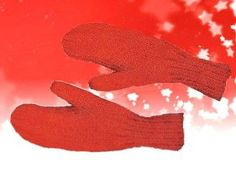 Free knitting pattern to make traditional mittens with two knitting needles and instructions for sizes from child to adult.