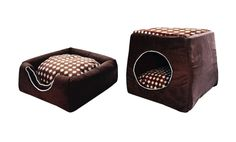 Convertible 2 In 1 Pet Bed House Dog Cat Folding Portable Sofa Lightweight Soft #Abyss