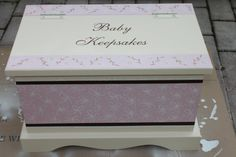 Pink Lacey Floral Keepsake Chest Memory Box by staciedale on Etsy, $255.00