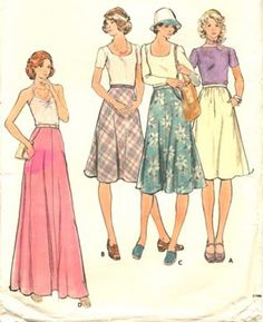 1970s patterns.  McCalls, Butterick, Vogue...I used to go with my mom to the local fabric store and go thru patterns with her.  It was clothes shopping for me.