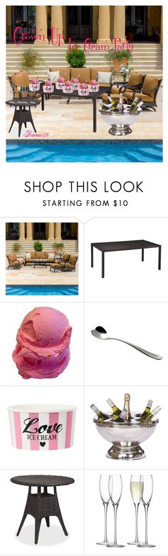 """Ice Cream Treats"" by princess976 ❤ liked on Polyvore featuring interior, interiors, interior design, home, home decor, interior decorating, Lakeview Outdoor Designs, Sunset West, Alessi and Thos. Baker"