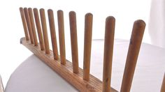 LAST ONES - Vintage Mid Century Industrial Shoe Factory Wood Pin Rack for Upcycle or Repurpose - Price REDUCED