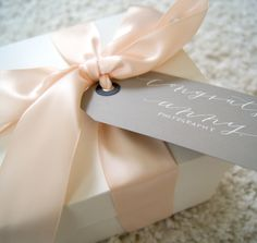 Gift by: www.marigoldgrey.com Custom | Gift Boxes | Photography | Client | Thank You | Congratulations | Congrats | Electronic Wipes | Lavender | Bath Salts | Natural | Hand Poured | Artisan | Candle | Pretty | Classic | Ribbon | Gift Tag | Calligraphy | Maryland | Wedding | Engagement | Photos | Special Events | Bride