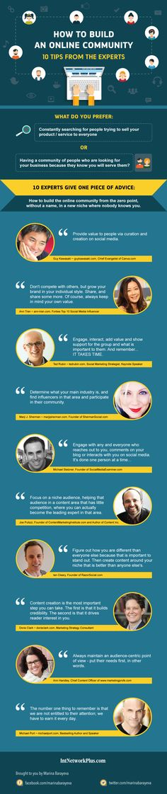 Top experts share tips on how to build an online community which is interesting in your business. Use these tips to improve your social media marketing #socailmediastrategy #creativeentrepreneur #businessquotes #inspirationalquotes #quotes #quotesoftheday #motivationalquotes #inspiration #motivation