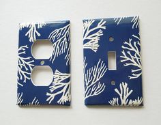 Items similar to Coastal Light Switch Cover / Coral Decor / Beach Cottage Decor / Single Toggle Switch / Nautical Bathroom / Electrical Outlet /Rocker on Etsy Beach Cottage Style, Beach Cottage Decor, Coastal Cottage, Coastal Decor, Coastal Lighting, Coastal Farmhouse, Light Switch Art, Light Switch Covers, Coastal Bedding