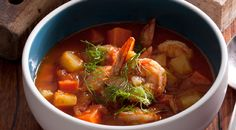 Watch Curtis Stone cook this tasty prawn and potato chowder!