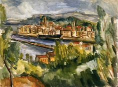 """Near the Estuary of the Seine"", by Maurice de Vlaminck (French, Fauvism, Andre Derain, Raoul Dufy, Henri Matisse, Maurice De Vlaminck, Reading Art, Realistic Paintings, Post Impressionism, Art Database, Modern Artists"