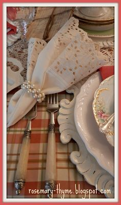 Rosemary and Thyme: Ladies Luncheon Tablescape