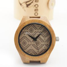 38mm Ripple Bamboo Wooden Watch Wood Watches Casual Quartz Luxury ...