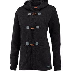 Snuggle up in this cute full zip hoodie, made from a wool blend that gives you a vintage sweater look and modern fleece feel. The fuzzy interior keeps you cozy, while the exterior dresses up for cocktail parties and concerts with the toggle closure and knit elbow patches.