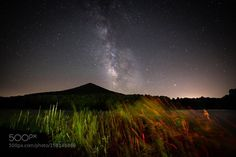 """Sharp Top  One of my favorite spots to catch the Milky Way has always been Peaks of otter Lodge Bedford county Virginia off the Blue Ridge Parkway... Sharp top Mt always makes for the perfect back drop and with a little planning you can line up the Milky Way perfect every time... I use a app called TPE """" The Photographers Ephemeris"""" you can plan out shots right down to the min check it out sometime http://ift.tt/1PSB6zf Canon 6d Rokinon 14mm ISO3200 f/2.8 20"""" seconds light paint with LED…"""