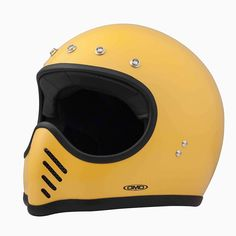 """""""No, this isn't a Bell Moto 3 helmet from the 1970s. It's the latest design from @dmdhelmet and it mixes Moto 3 style with carbon/Kevlar protection and…"""""""