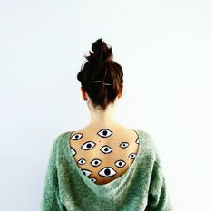Juxtapoz Magazine - Body Talk: Painting the Chest with Claudia Sahuquillo Painting On Body, Eye Painting, Body Paint, Crazy Makeup, Makeup Looks, Eye Tattoos, Honey Bunny, Spanish Artists, Eye Art