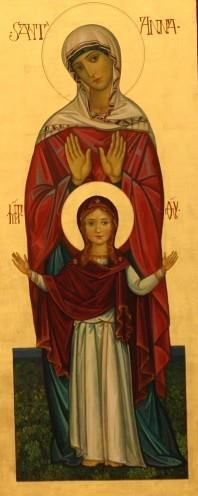 Santa Ana y la Virgen María...