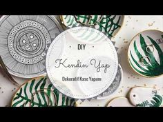 DIY Kendin Yap Dekoratif Kase Yapımı - YouTube