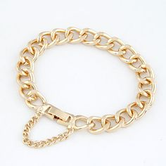 EXQUISITE Occident fashion concise thick chain bracelet ( gold )