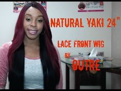 Outre Synthetic L-Part Lace Front Wig - Natural YAKI 24 (futura) - WigTypes.com