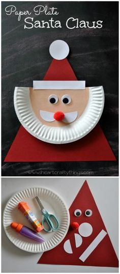Paper Plate Santa Claus 25 Interesting Ideas to Make Easy Christmas Crafts Weihnachten - kreativ Paper Plate Santa Claus 25 Interesting Ideas to Make . Kids Crafts, Christmas Crafts For Kids To Make, Christmas Ornament Crafts, Simple Christmas, Kids Christmas, Holiday Crafts, Christmas Decorations, Christmas Paper, Craft Projects