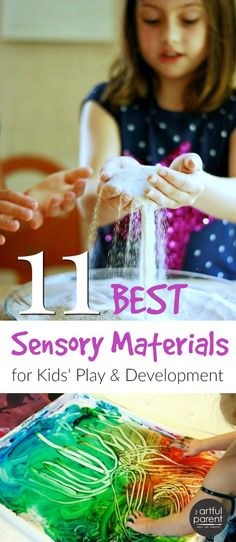 Sensory materials are great for children's development and can be used in learning, play, & art activities. The more senses we use regularly, the better.