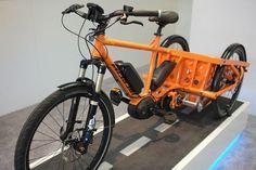 electric cargo trike bosch mid drive eurobike