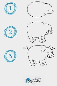 how to draw a simple cow