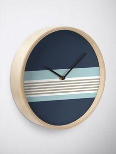 Blue Clocks, Best Wall Clocks, Decorating Your Home, Line Art, Light Blue, Neutral, Restaurant, Decoration, Room