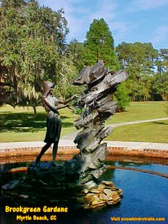 A feast for the senses - is a walk through the grounds of Brookgreen Gardens in Murrells Inlet, SC. Rv Campgrounds, Murrells Inlet, Day Trips, South Carolina, Golf Courses, Gardens, Beautiful, Tuin, House Gardens