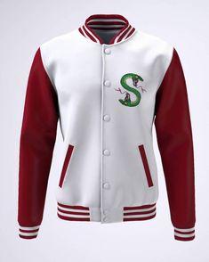 College - Branco e Bordô - Southside Serpents Riverdale Shirts, Riverdale Cw, Cool Outfits, Fashion Outfits, Womens Fashion, Riverdale Fashion, Football Jackets, Curvy Girl Outfits, Rainbow Fashion