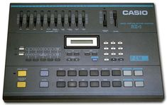 Casio RZ-1 drum machine (1986). Great clap, rim shot and clap i use it all the time but just those 3 sounds