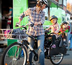 Energy efficient stocking stuffers and more. Like this Yuba cargo bike with precious cargo.