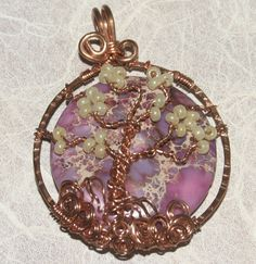 Swirling Tree of Life Wire Wrapped Copper Pendant by groovychickjewelry, $27.00