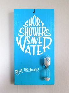 Shower painted sign by Gaston de Lapoyade