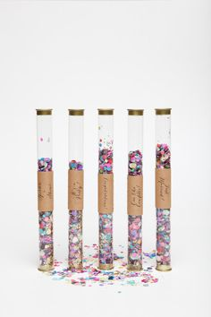 colorful confetti wands set of 10 by ohgoodiedesigns on Etsy, $40.00