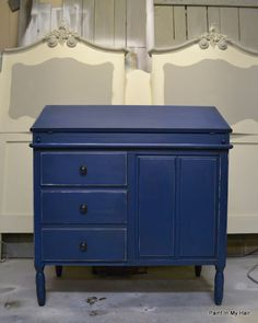 Napoleonic Blue with dark wax - love this blue - might have to re-think how to combine with Barcelona Orange