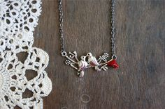 Turtle Dove Necklace by pangeahandmade on Etsy, $25.00
