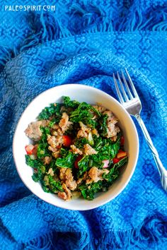 Paleo Sausage and Kale, looks like a great one-dish dinner!