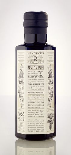 Hendricks Quinetum Cordial Wine #bottle #packaging