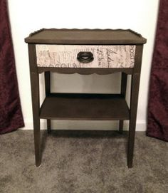 antique night stand redo