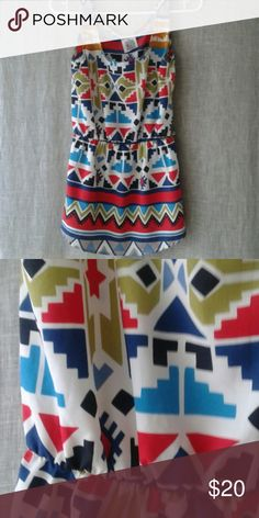 Cute Aztec top Please let me know what questions you may have. There is no tag however I feel it is most likely a small Chelsea & Zoe Tops Blouses