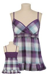 Plaid Smocked Tank $26 at Maurices