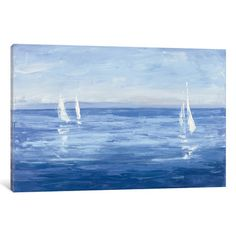 Trademark Fine Art 'Open Sail' Canvas Art by Julia Purinton, Size: 12 x Blue