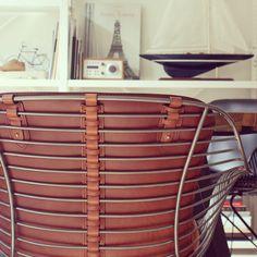 Detail of Back of Wire Dining Chair by Overgaard & Dyrman www.oandd.dk