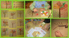 Outono - Pintura com cotonete