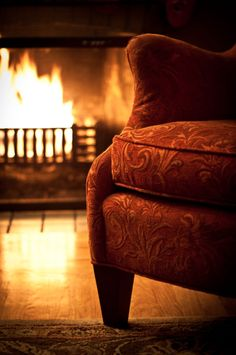 Because nothing beats a rainy day, a fire, a comfy chair, and a good book!!