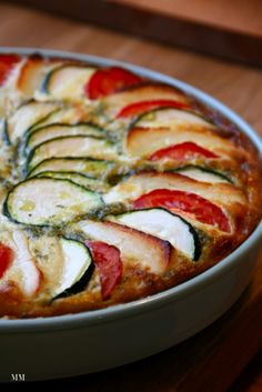 halloumi-kesäkurpitsa-tomaattipiirakka I Have Done, Halloumi, Veggie Dishes, Ratatouille, Zucchini, Harvest, Pie, Vegetables, Ethnic Recipes