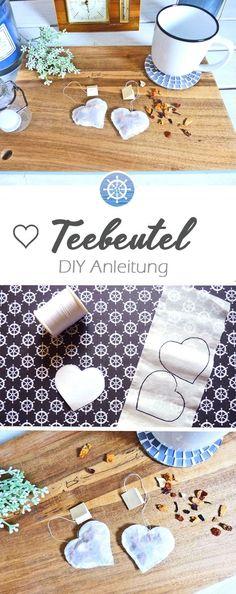 Süßes Last Minute Geschenk für jeden Anlass: Teebeutel Herzen selber machen - DIY Anleitung via aye-aye-diy.com